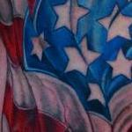 american flag soldier Tattoo Design Thumbnail