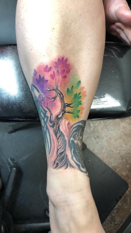 tattoos/ - Watercolor tree tattoo - 132956
