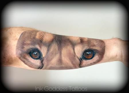 eyeball - Lion Face Tattoo by Haylo