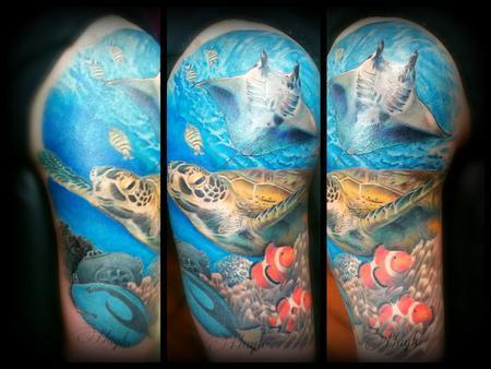 nature animal shrimp - Underwater ocean tattoo