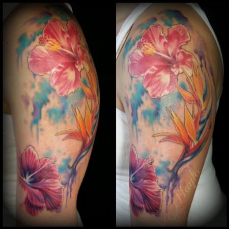 Flower Lily - Watercolor Floral tattoo by Haylo