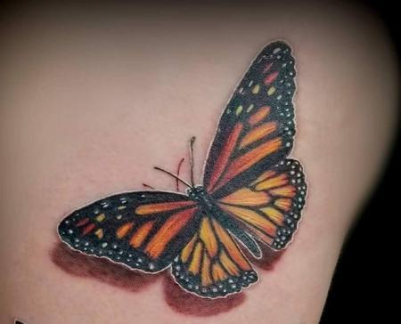 Body Part Lower Back - Monarch Butterfly tattoo