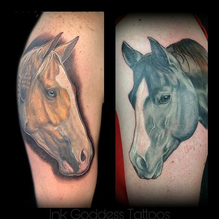 Realistic - Horse portrait tattoos by Haylo