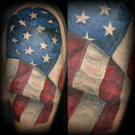 Ethnic - American Flag tattoo by Haylo