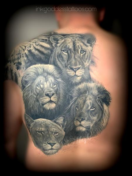 Back and Chest - �The Lions Den� Lion Pride back piece by Haylo