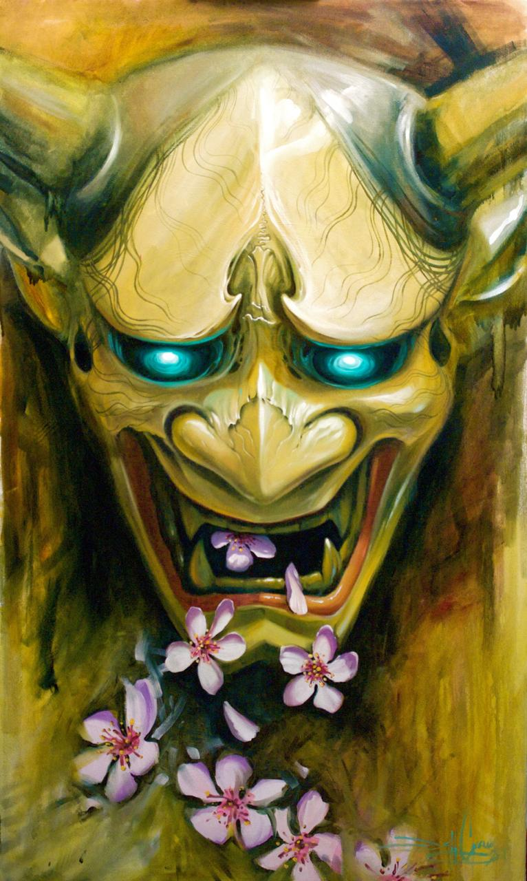 Art Galleries - Cherry blossom Hannya - 114668