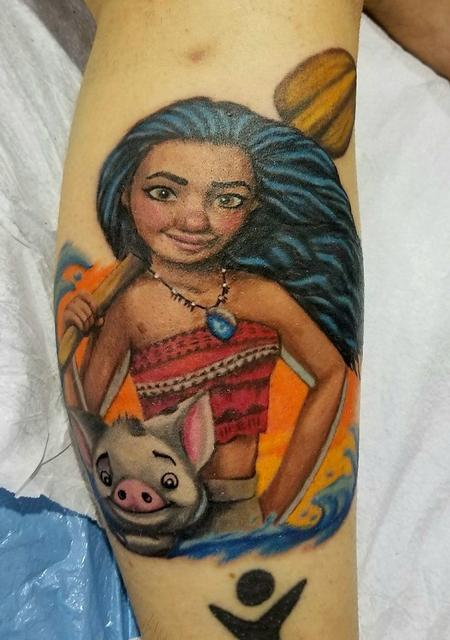 Nature Animal Pig - Moana Tattoo