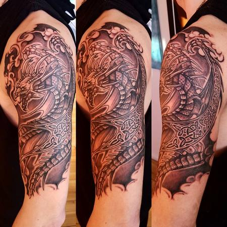 tattoos/ - Celtic Dragon Sleeve - 130835
