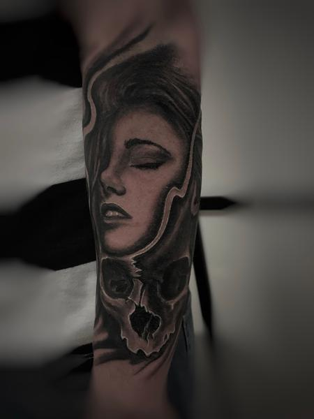 tattoos/ - Girl and Skull  - 136201