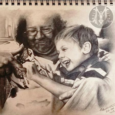 Art Galleries - MOTHER IN LAW AND SON PORTRAIT  - 112423