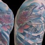 Trout Fly Fishing Tattoo Thumbnail