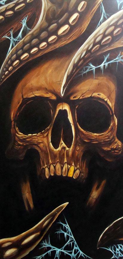 Tattoos - Blake's Skull Painting - 58867