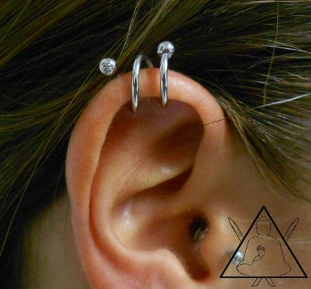 Tattoos - Double helix piercing - 100896