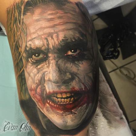 tattoos/ - Color, realistic Joker portrait - 108891