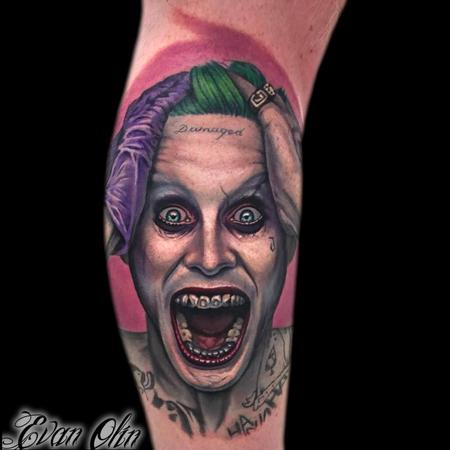 tattoos/ - Jared Leto Joker portrait tattoo - 116979