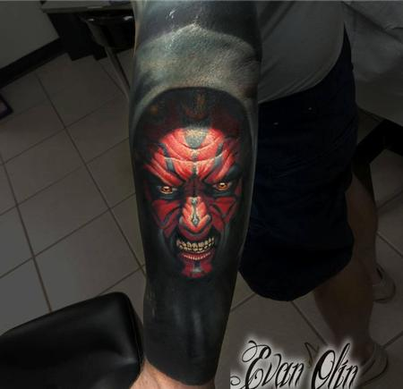 tattoos/ - Darth Maul portrait tattoo (with cover up) - 116981