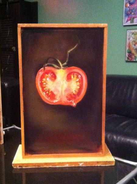 Art Galleries - tomato on an old drawer - 65463