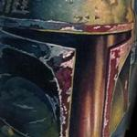 color realistic Boba Fett tattoo Tattoo Design Thumbnail