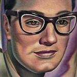 Color realistic Buddy Holly portrait tattoo Tattoo Design Thumbnail