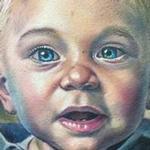 Portrait of client's son tattoo Tattoo Design Thumbnail
