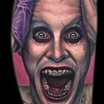 Jared Leto Joker portrait tattoo Tattoo Design Thumbnail