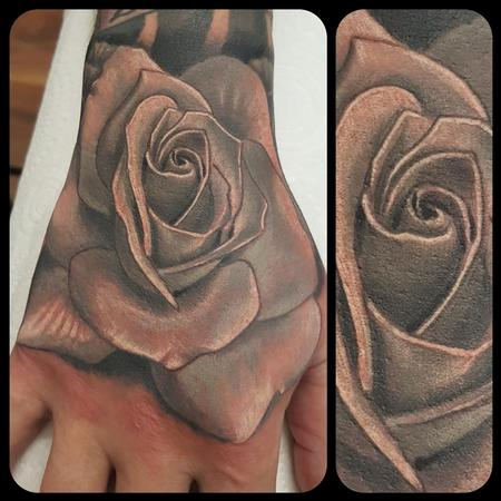 tattoos/ - Rose on a hand - 134675