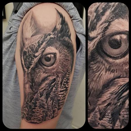 tattoos/ - Owl and forest - 134987