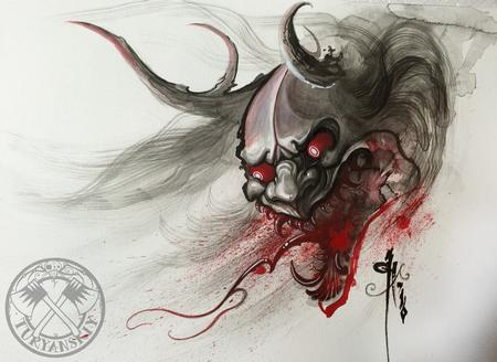Art Galleries - Bloody Hannya Mask - 114609