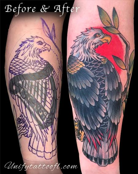 tattoos/ - Eagle Cover-up - 129401
