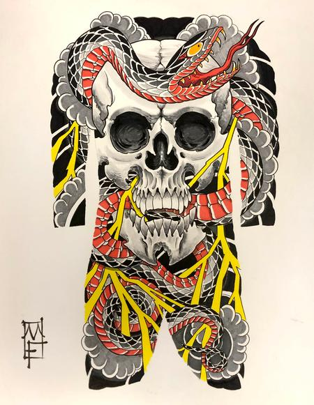 Art Galleries - Skull & Snake - 137548