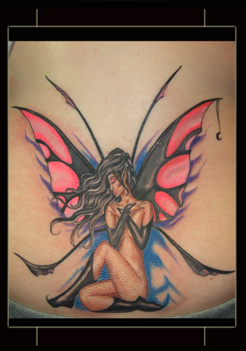 Comments: ok ok I tattooed a fairy.. we all have dammit. hey it glows under