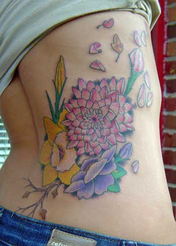 asian flower tattoo. Flower tattoos,