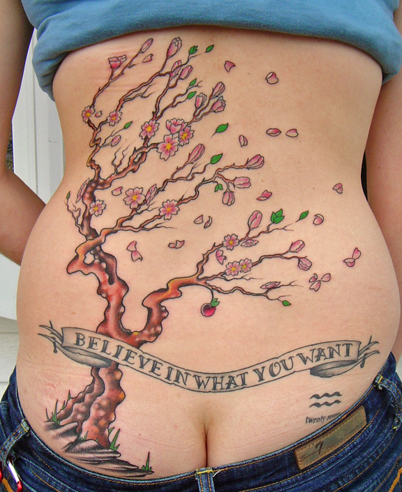 Amazing Japanese Tattoo Designs Especially Japanese Sakura Tattoo Picture 9