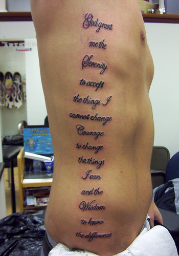 Wisdom quotes about life tattoo