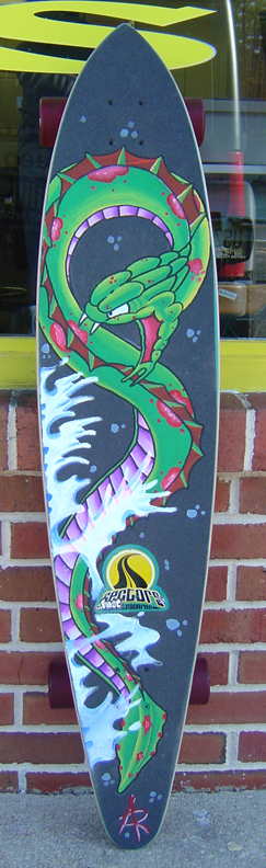 Looking for unique skate boards art galleries seasnakeboard for Tattoo shops in ocean county nj