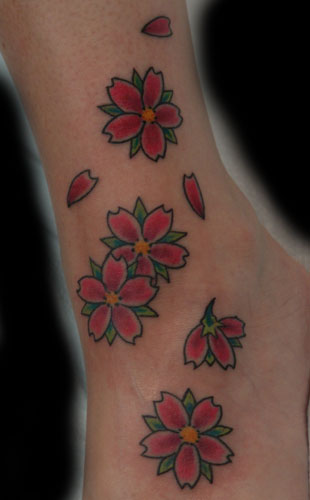 Flower tattoos Tattoos cherry blossom