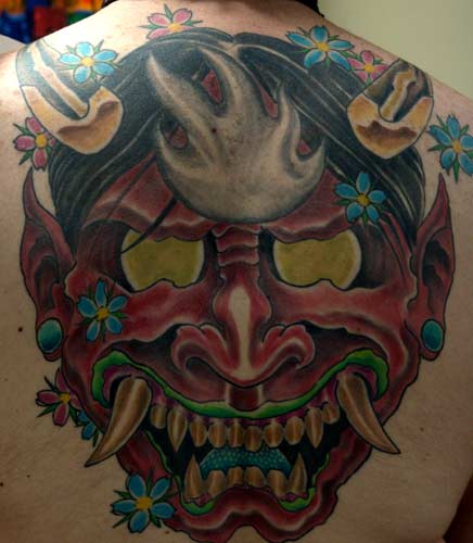 Anthony Lawton Tattoos japanese mask