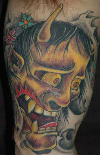 Tattoo Galleries: hannya Tattoo Design