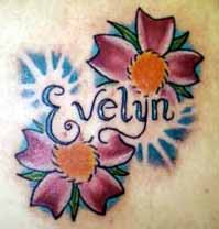 Flower   Picture on Tattoo Galleries  Flowers With Name Tattoo Design