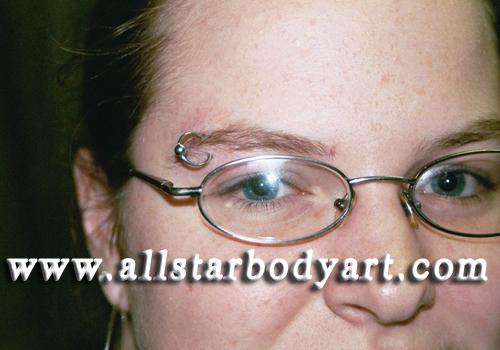eyebrow piercing. Eyebrow Piercing