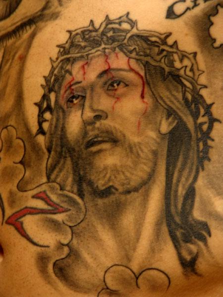 Black and Gray tattoos Tattoos jesus
