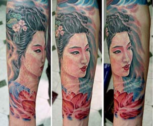 Off the Map Tattoo : Tattoos : Steve Morris : Geisha