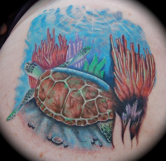 Looking for unique Tattoos? Sea Turtle Tattoo
