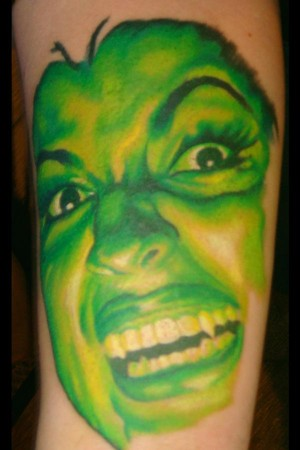 Mason - Green Vampire Portrait Large Image. Keyword Galleries: Color Tattoos