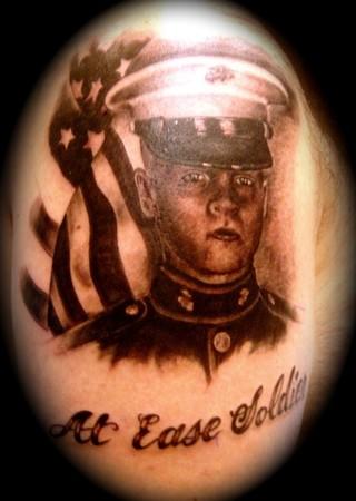 Marine Tattoos on Marine Portrait   Tattoos