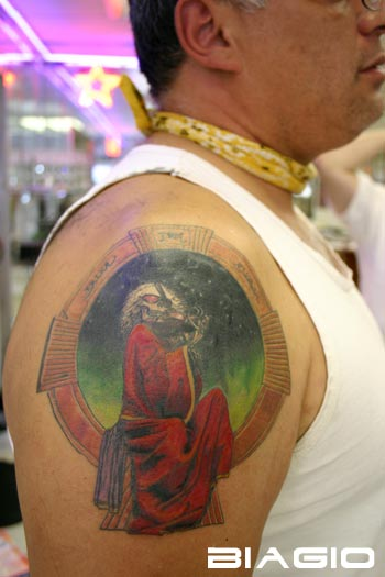 Grateful Dead Tattoos: GD Tattoo #22 Steal Your Face pretty good GD tattoo