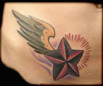star hip tattoos
