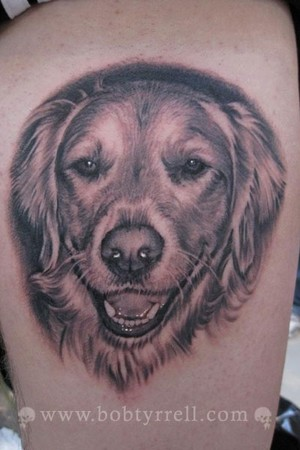 dog-tattoo-on-leg
