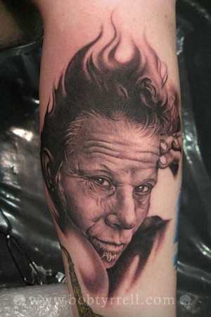 Keyword Galleries: Portrait tattoos, Music tattoos, Realistic tattoos,