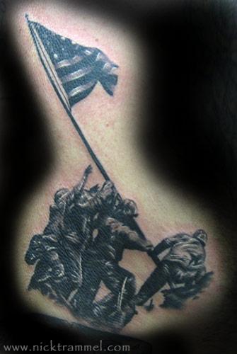 Nick trammel iwo jima for Iwo jima tattoo